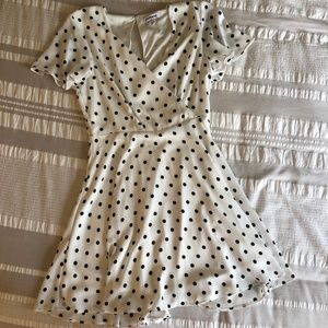 Polka Dot Surplice Fit and Flare - Express